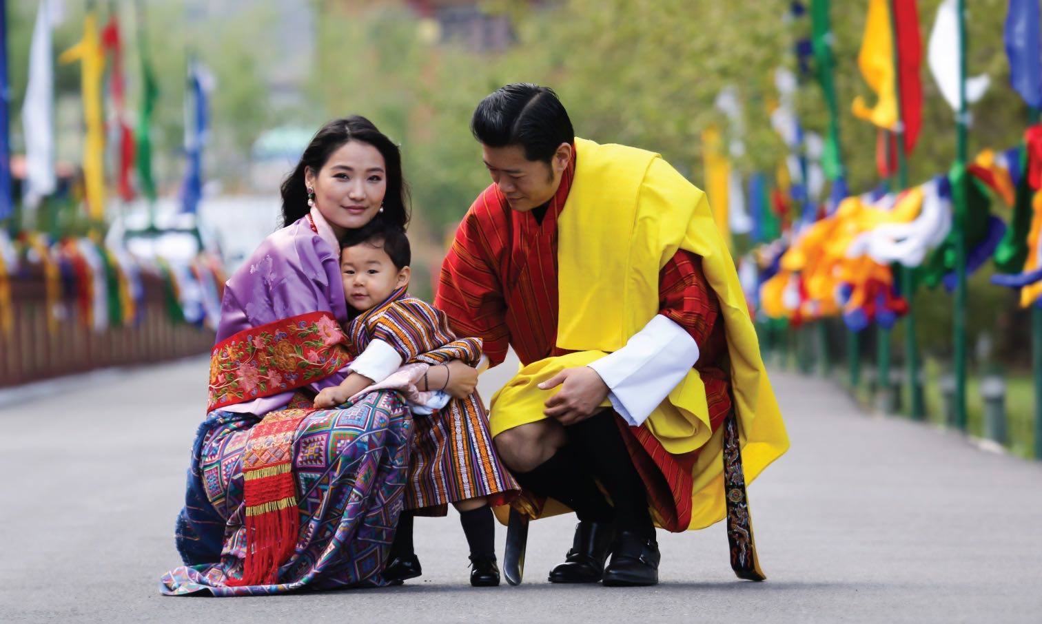 The Royal family of Bhutan